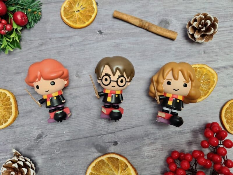 Harry, Ron and Hermione figurines