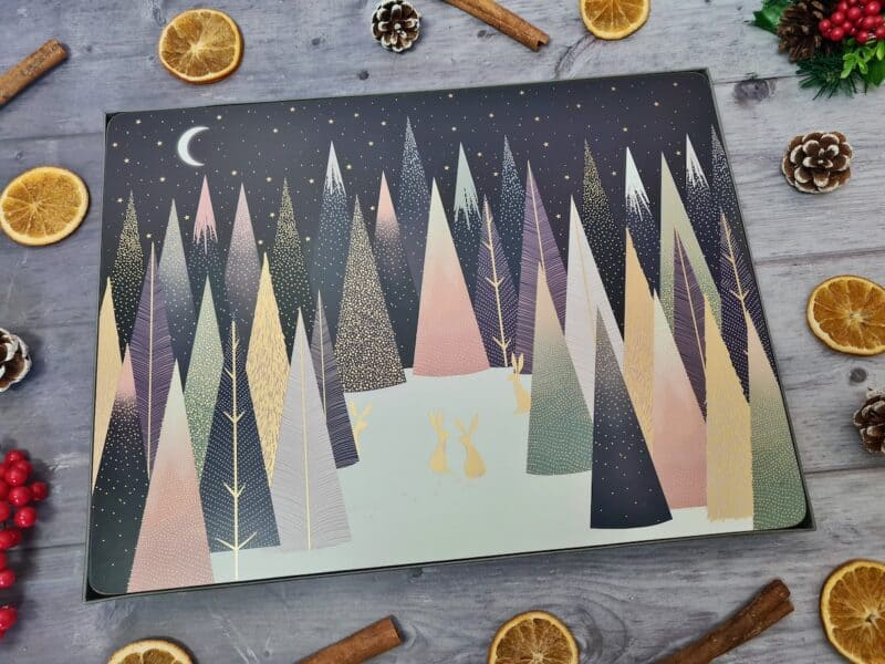 Set of four Sara Miller London Portmeirion Frosted Pines placemats