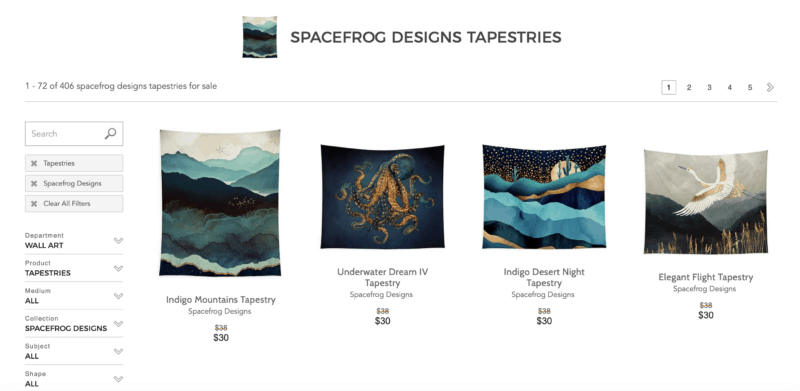 Fine Art America Spacefrog tapestries
