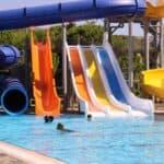 Slides at a waterpark