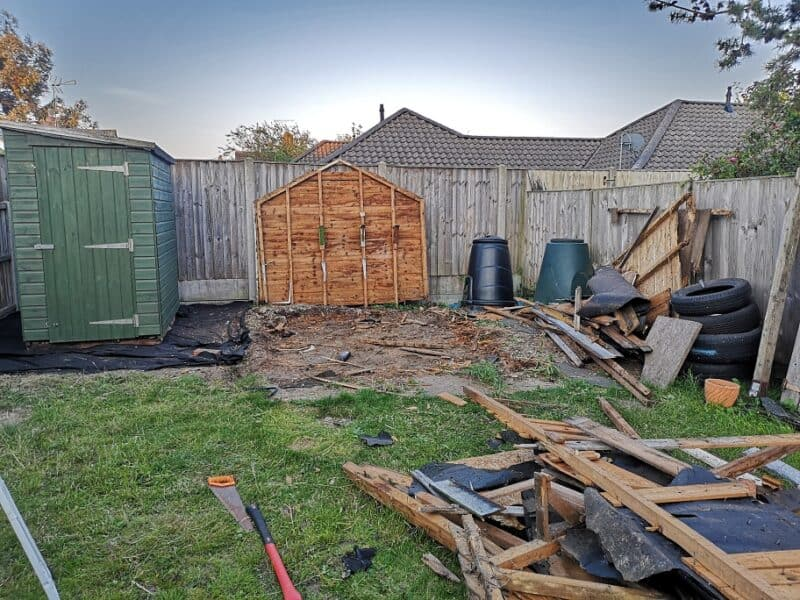 Taking down the old shed