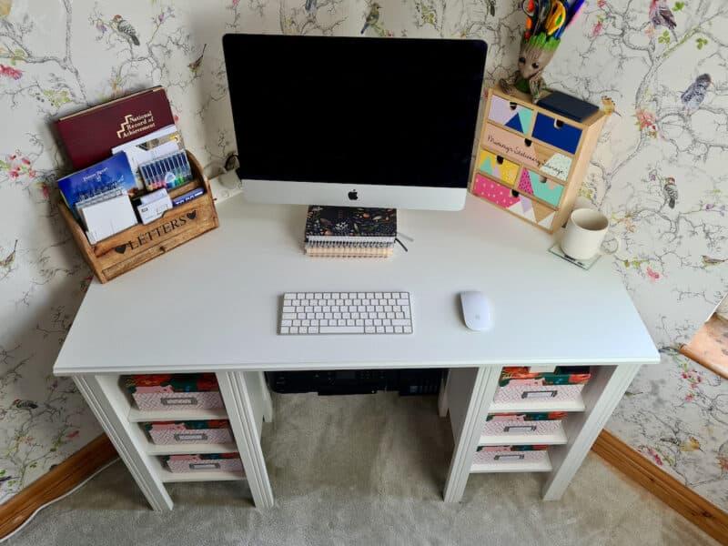 IKEA Brusali Corner Desk top view