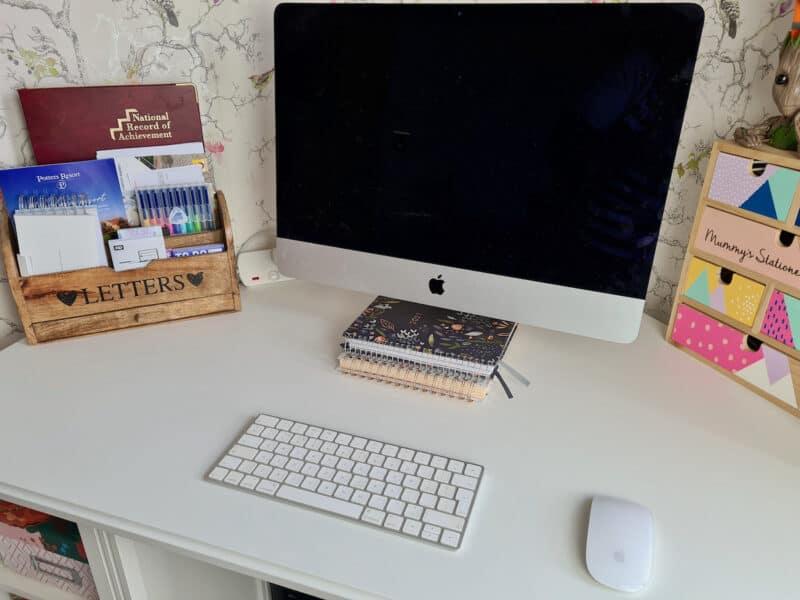 IKEA Brusali Corner Desk workspace