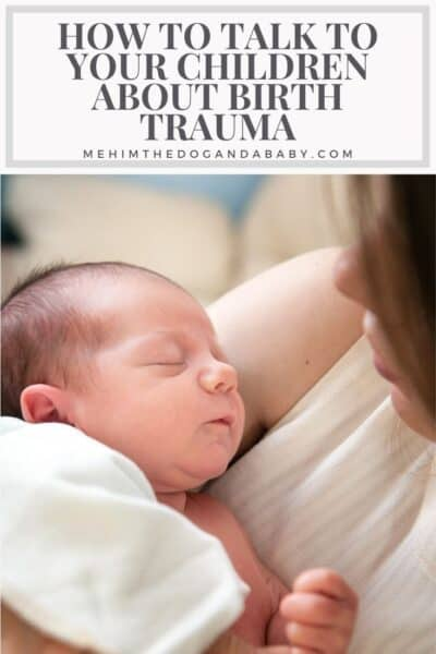 How to talk to your children about birth trauma
