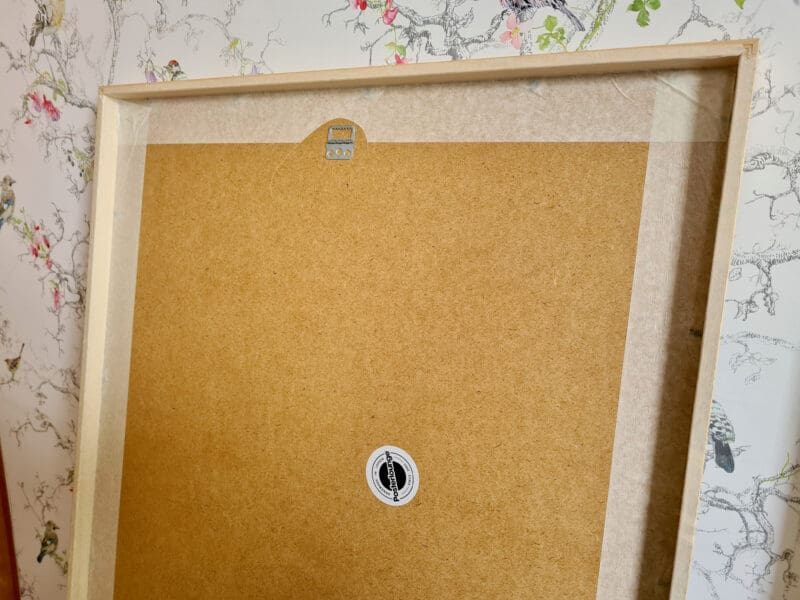 Posterlounge back of frame