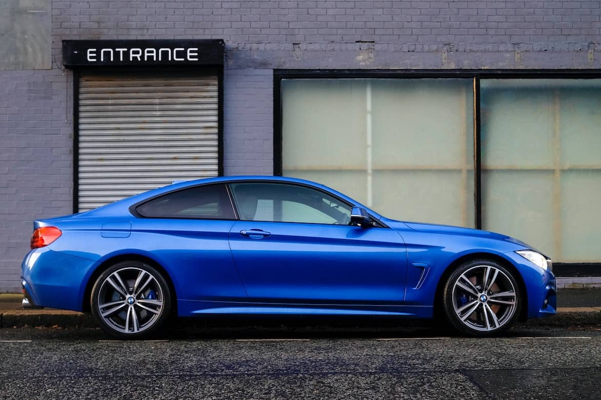 Shiny blue car