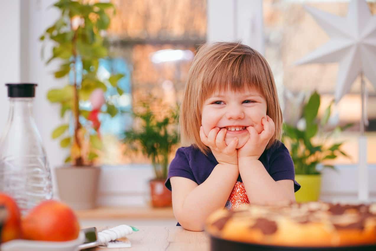 Toddler in kitchen