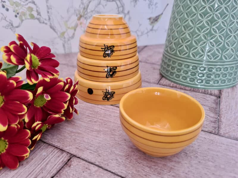 Red Candy bee measuring bowls