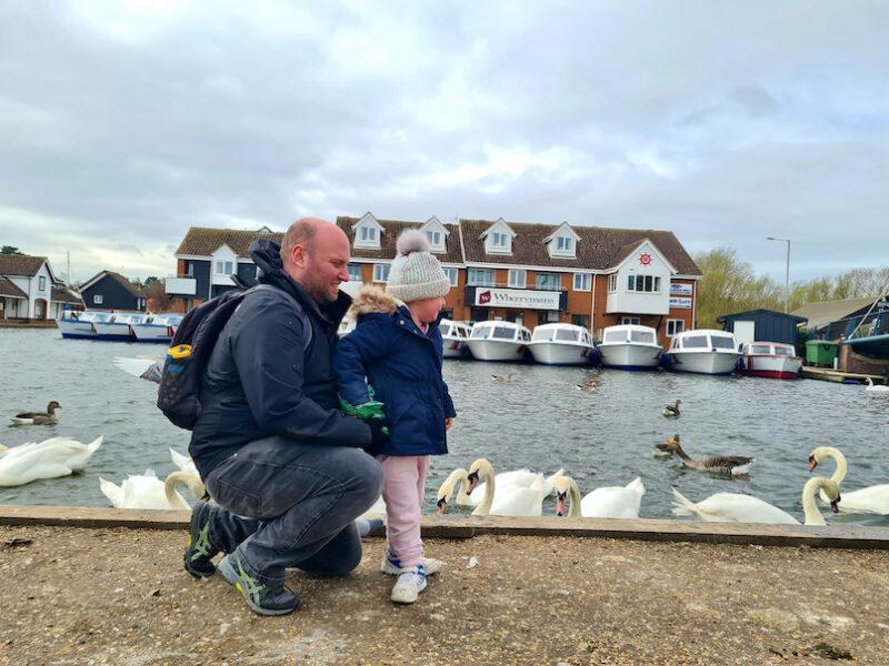 John and Erin feeding the ducks