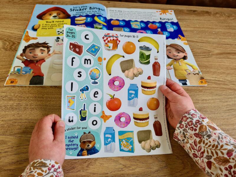 The Adventures of Paddington Magazine Sticker Bingo