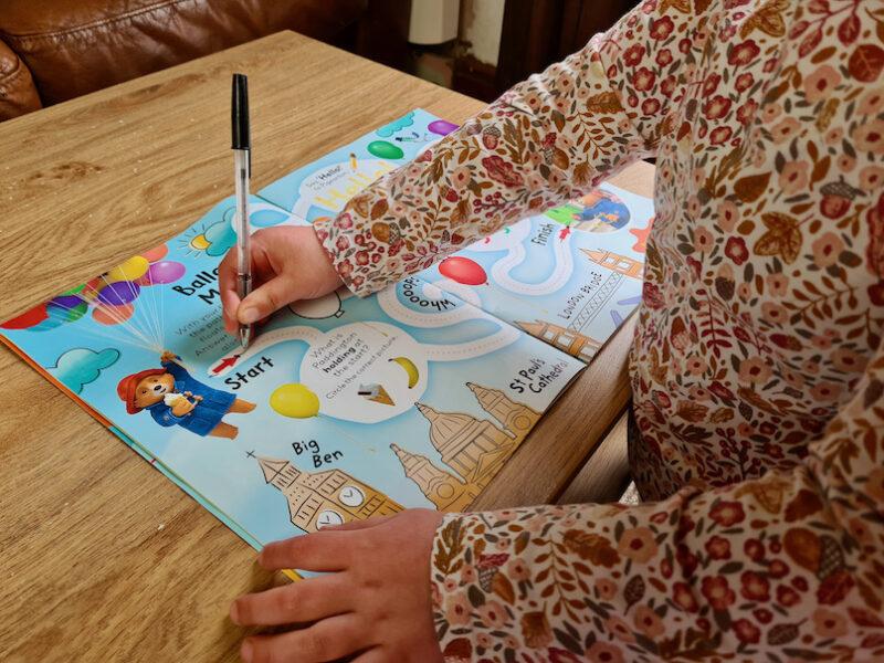 The Adventures of Paddington Magazine balloon maze