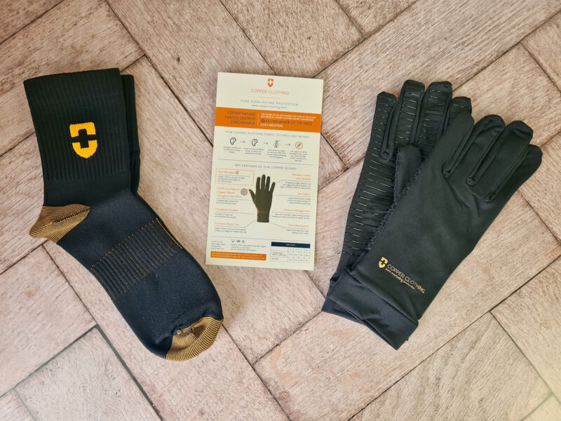 Copper Clothing socks and gloves