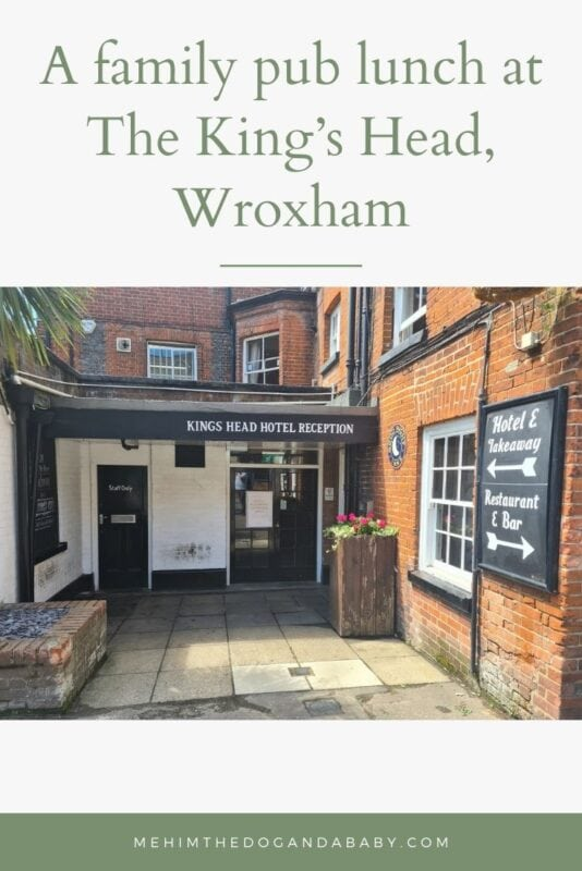 A family pub lunch at The King's Head, Wroxham