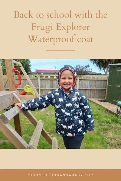 Back to school with the Frugi Explorer Waterproof coat