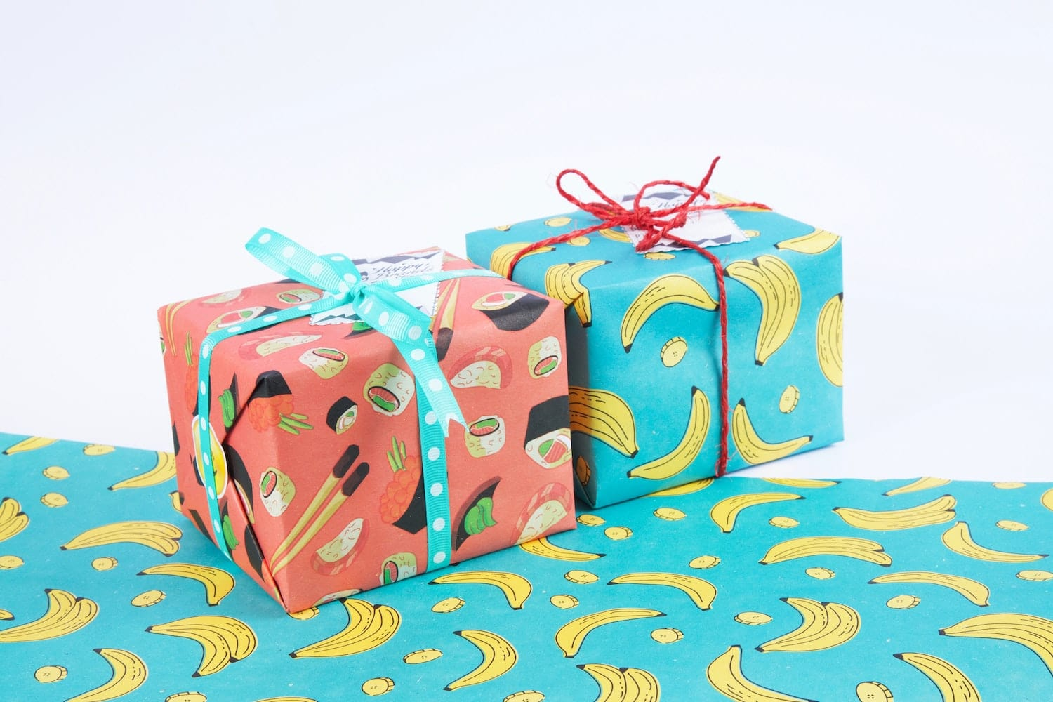 Birthday presents and wrapping paper
