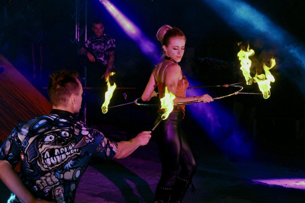 Circus Cortex fire hula hoop