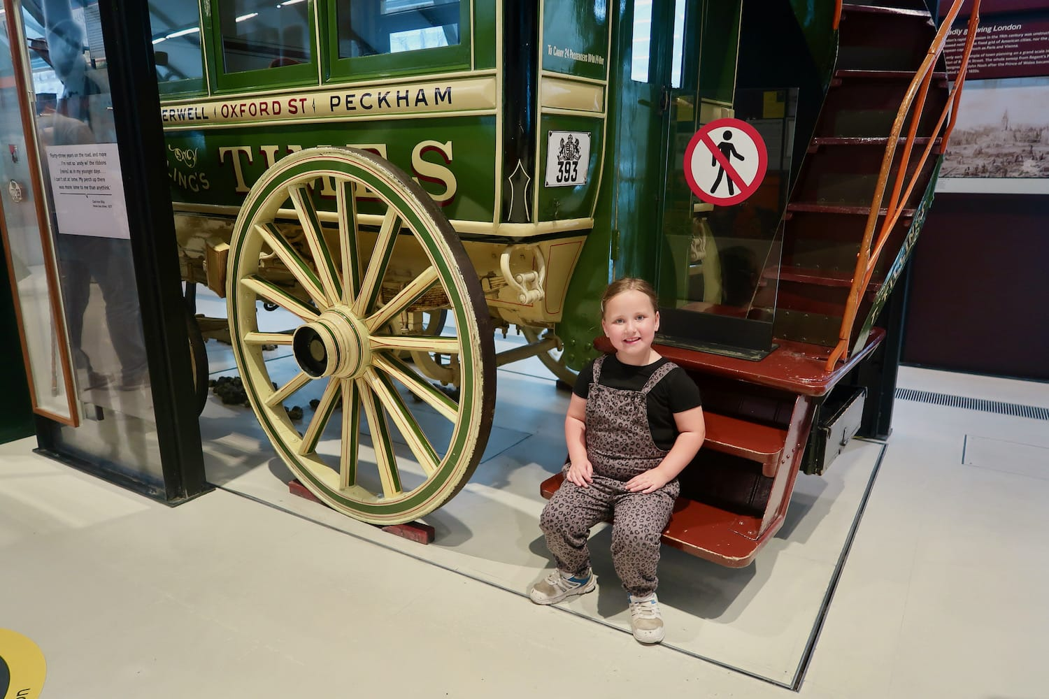 Erin at the London Transport Museum