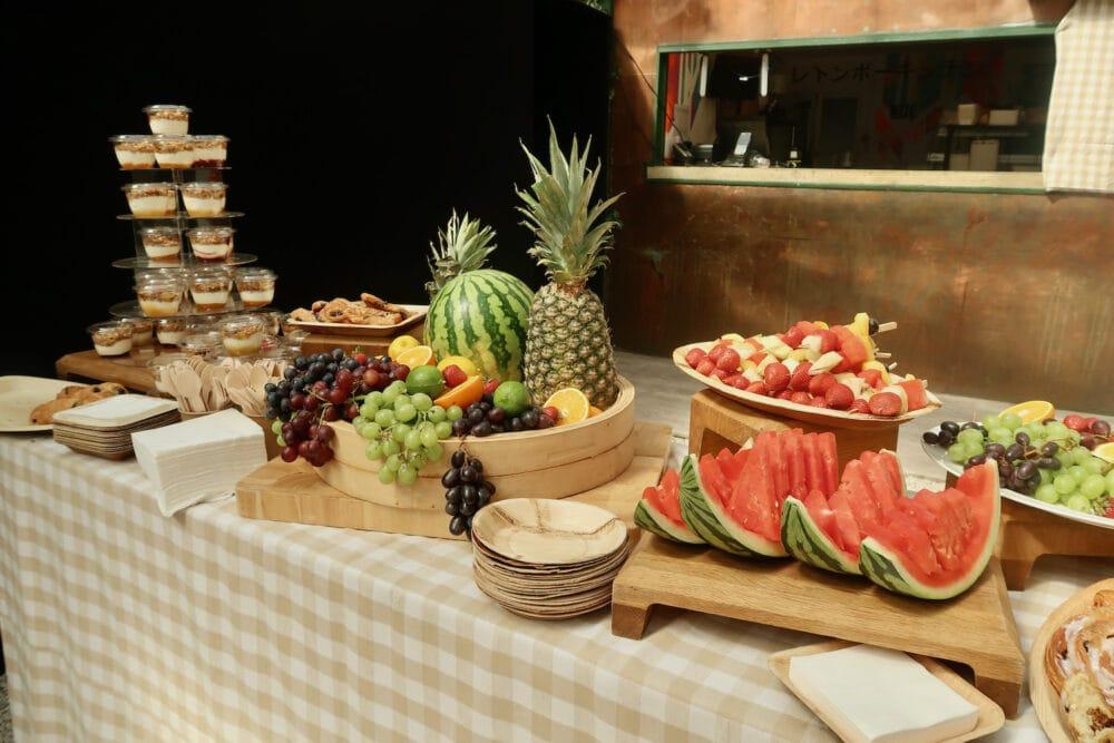 Fruit platter at the summer of Disney Plus event