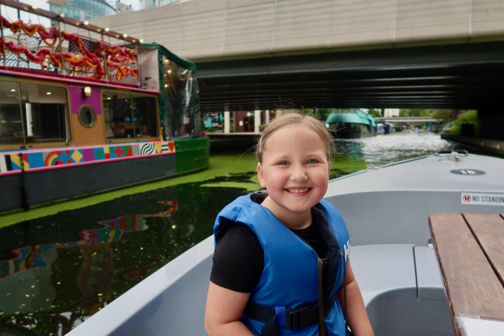 GoBoat Paddington Erin on the boat