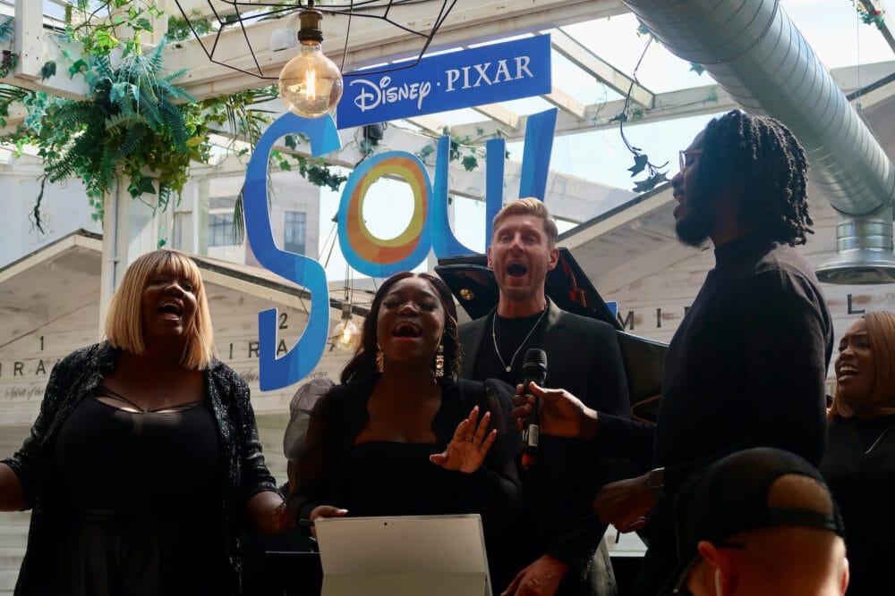 Gospel singers at the summer of Disney Plus event