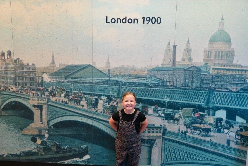 London 1900 sign London Transport Museum