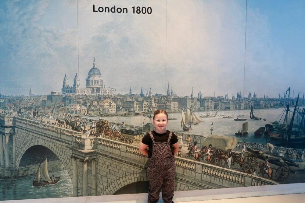 London Transport Museum 1800 sign