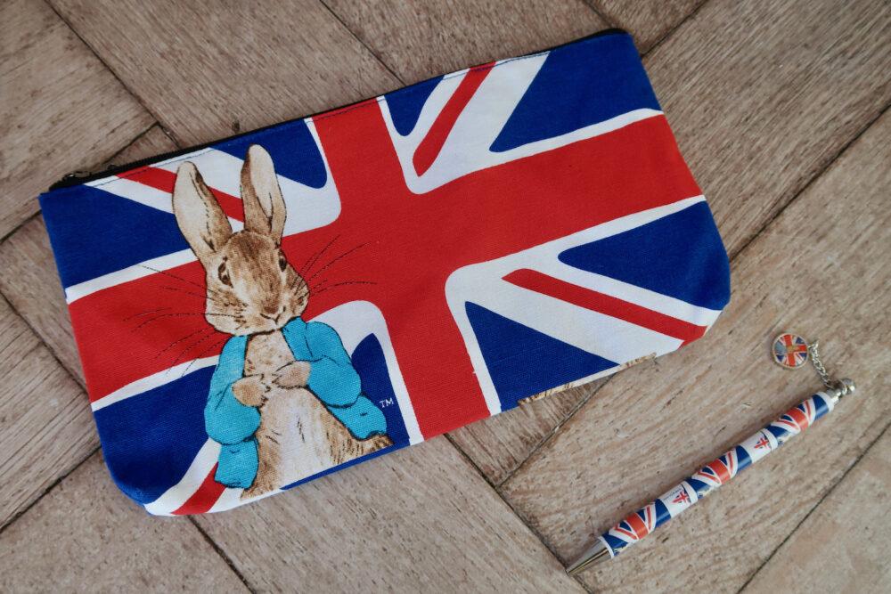 Peter Rabbit pencil case and pen
