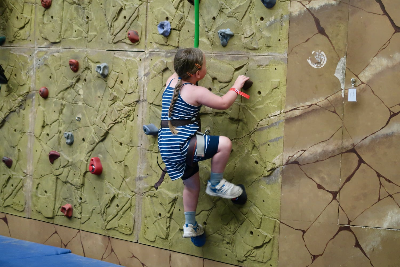Potters rock climbing