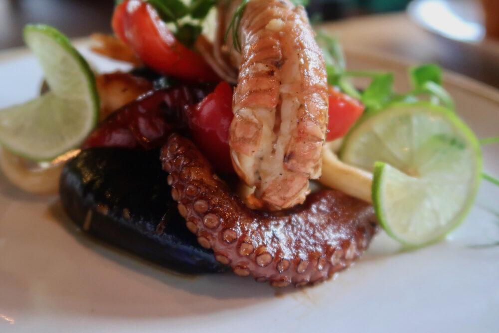 Seafood platter close up