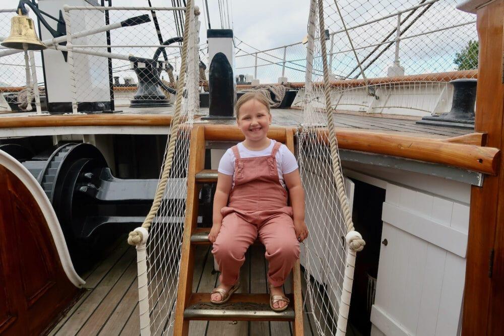 Sitting on the Cutty Sark