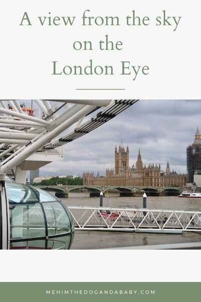 A view from the sky on the London Eye