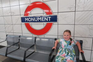 Erin at Monument station