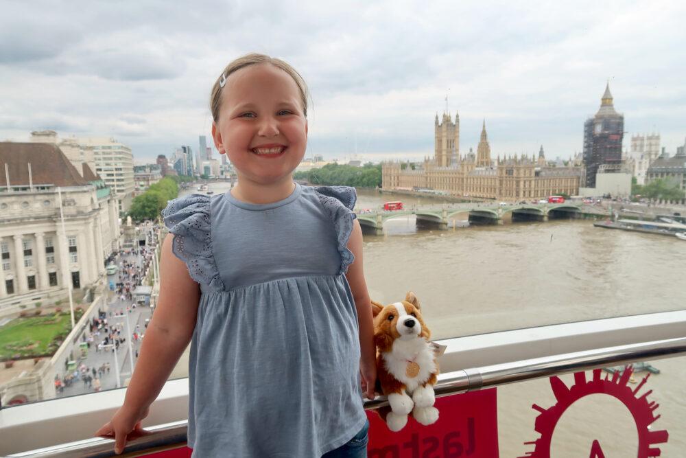 Erin on the London Eye