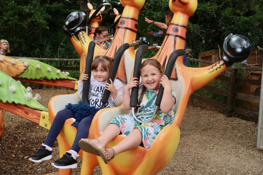 Pettitts Animal Adventure Park bouncing kangaroo ride
