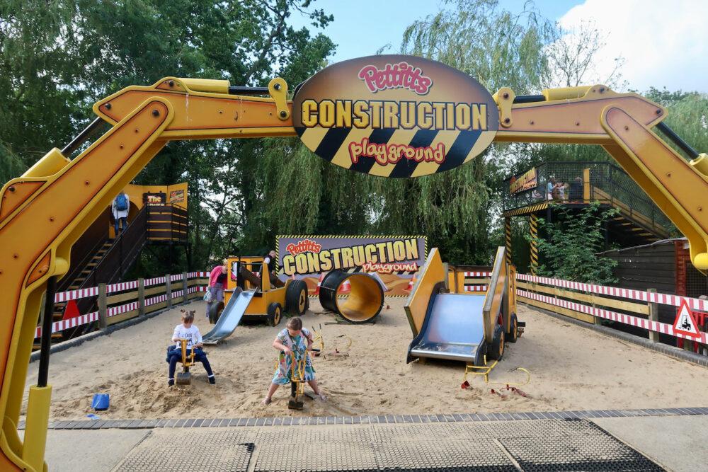Pettitts Animal Adventure Park construction playground