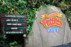 Pettitts Animal Adventure Park sign