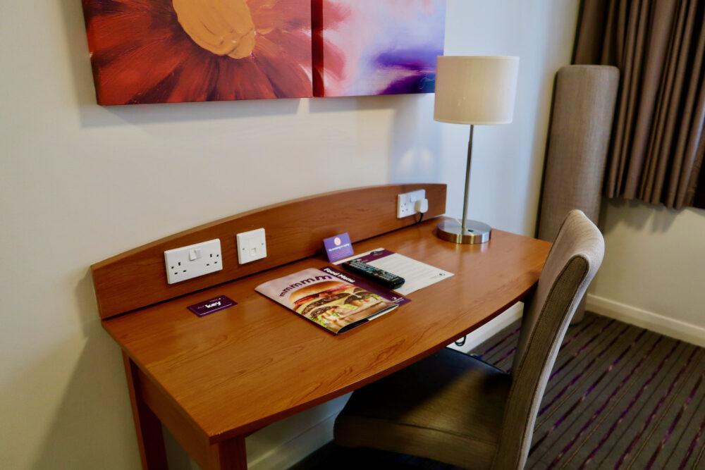 Premier Inn Greenwich desk