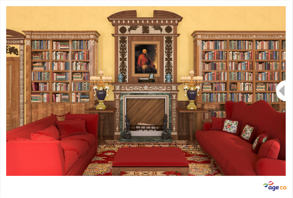 The Downton Abbey library