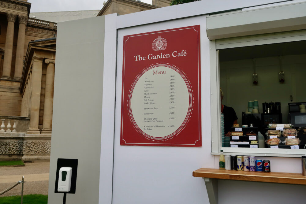 The Garden at Buckingham Palace cafe prices