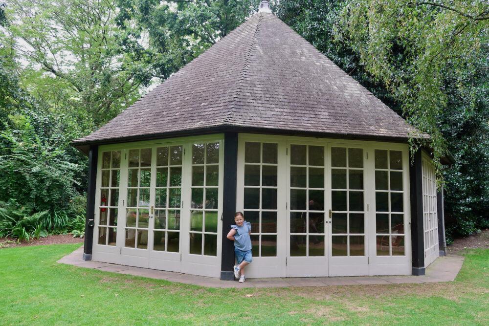 The Garden at Buckingham Palace summer house