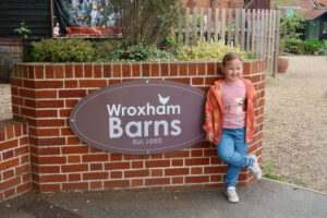 Wroxham Barns sign and Erin