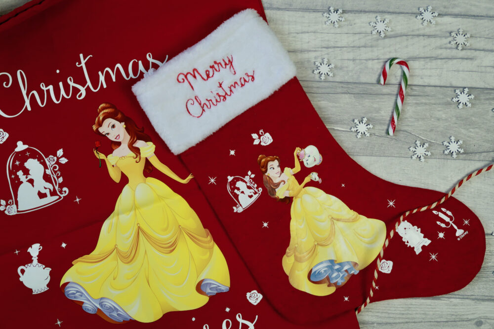 Belle stocking and Christmas sack