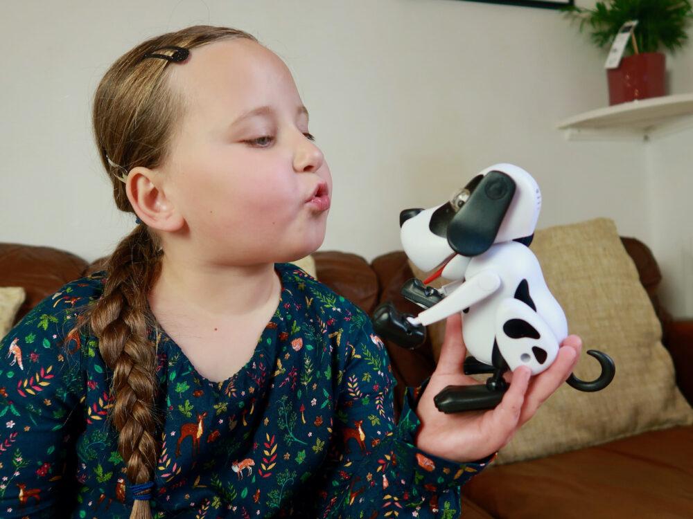 Erin kissing Playful Bailey