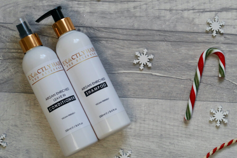 Exactlyhair vegan friendly shampoo and conditioner