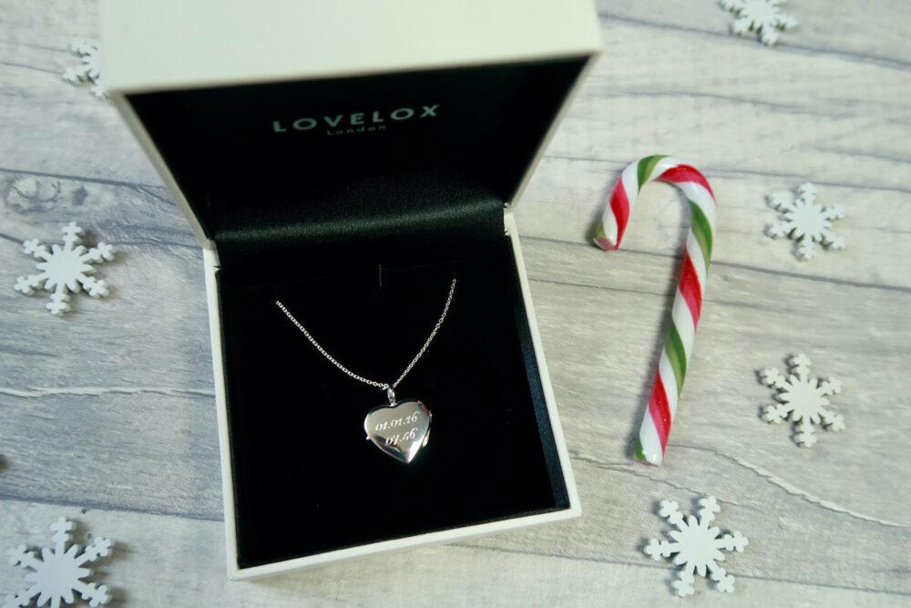 Lovelox personalised heart locket