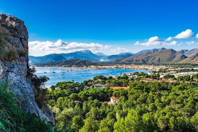 View of Port de Pollensa bay