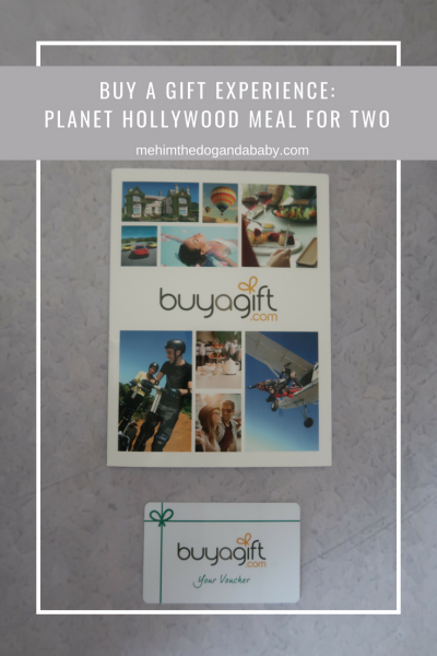 Buy A Gift Experience: Planet Hollywood Meal For Two