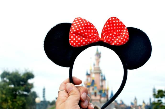 Disney ears and castle
