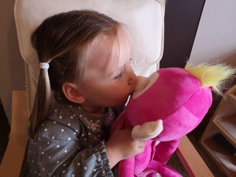 Erin and Fingerlings Hugs Bella