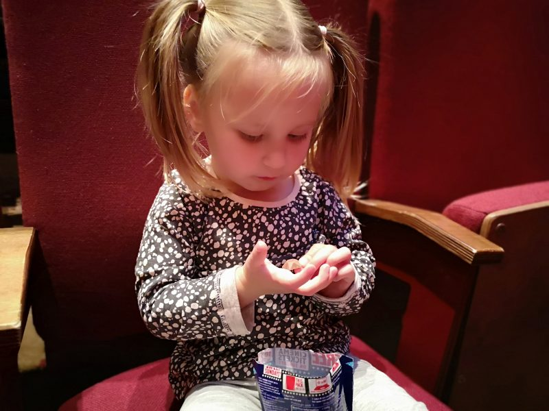 Erin eating Magic Stars